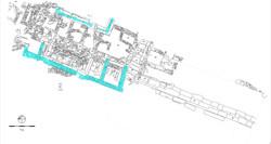 Κάτοψη του κτηρίου Ε του 3ου αι. μ.Χ.