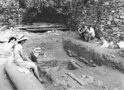 Ανασκαφή 1987, το κάτω άνδηρο