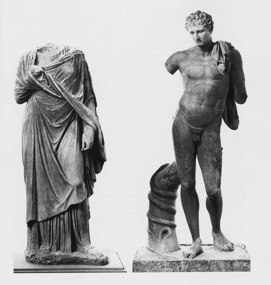 Τα αγάλματα του Ερμού και το γυναικείο του τύπου της Μεγάλης Ηρακλειώτισσας (Αρχαιολογικό Μουσείο ΄Α