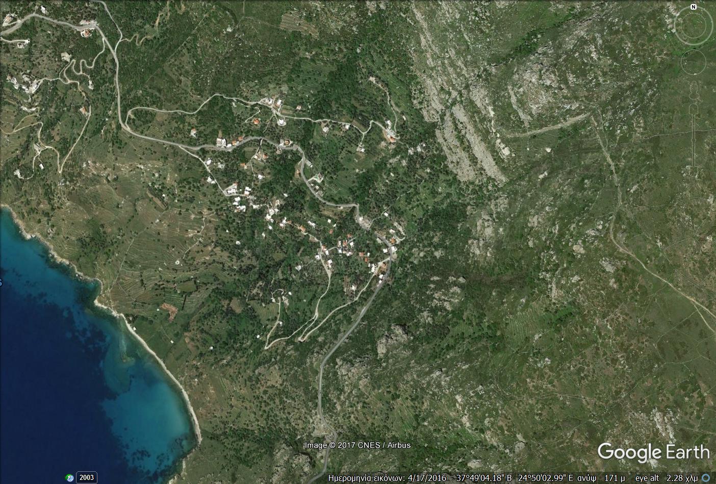 Παλαιόπολη. Δορυφορική λήψη