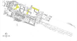 Κάτοψη της ανασκαφής στο άνω άνδηρο της αγοράς. Κτήριο Β (3ου αι. π.Χ.)
