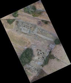 Ορθοφωτογραφία της ανασκαφής της αγοράς της αρχαίας Άνδρου
