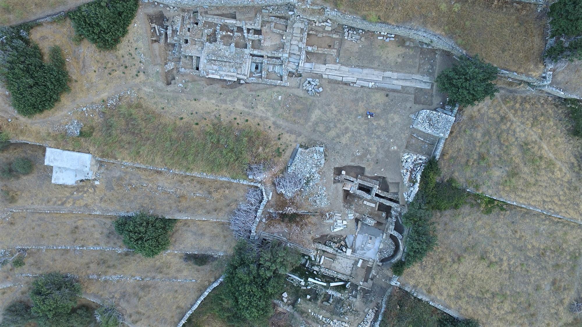 Αεροφωτογραφία της ανασκαφής, 2017