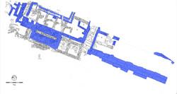 Κάτοψη της ανασκαφής στο άνω άνδηρο της αγοράς. Τα κατάλοιπα του πρώτου μισού του 2ου αι. π.Χ. (κτήρ