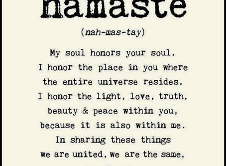 Namasté - what does that even mean?