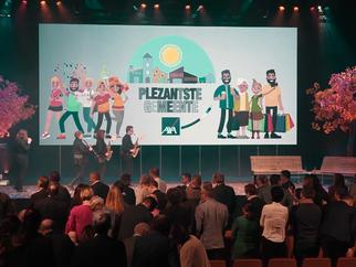 Campagne 'De Plezantste Gemeente van Vlaanderen' in samenwerking met AXA Verzekeringen wint AMMA