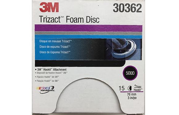3M Trizact Hookit Foam Disc, 3 in, 5000 (box of 15)
