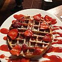 Waffle With Fresh Strawberries
