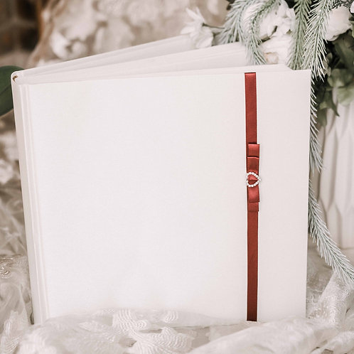 medium photo album with diamond decor on ribbon, 31x31 cm, up to 300 photos