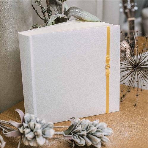 large photo album with diamond decor on ribbon, 35x35 cm, up to 720 photos