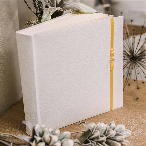 large photo album with diamond decor on ribbon, 35x35 cm, up to 720 photos