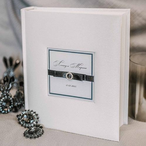 standard photo album with diamond decor, 25x21 cm, up to 200 photos