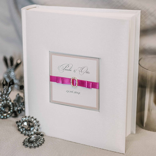 standard photo album with diamond decor, 25x21 cm, up to 200 photos