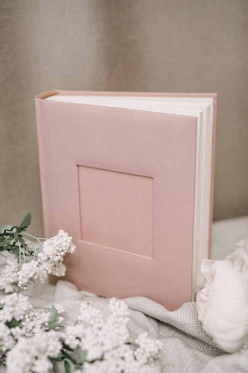 Pink baby girl photo album, 25x20 cm, 200 photos
