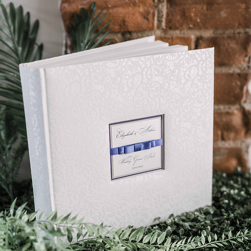 medium photo album with satin ribbon, 31x31 cm, up to 300 photos