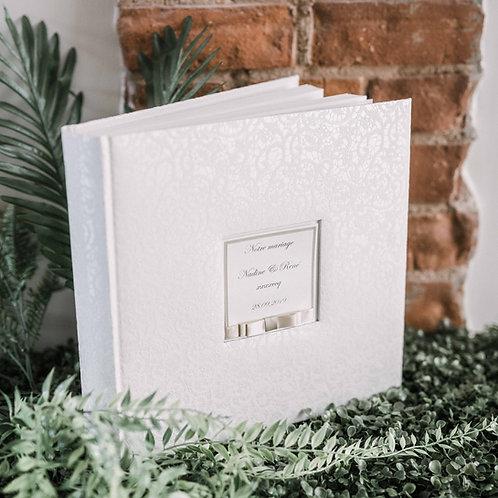 medium photo album with satin ribbon, 31x31 cm, up to 300 photos
