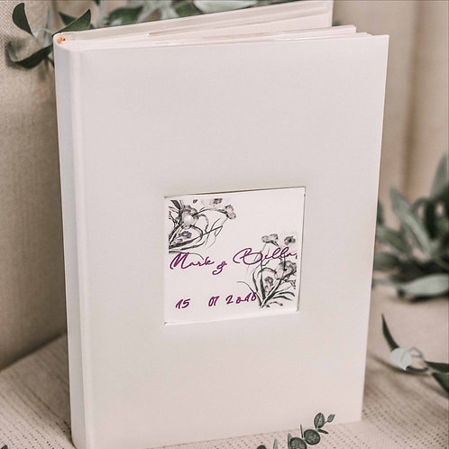 pocketphoto album with flower card, 31x22 cm, 300 photos