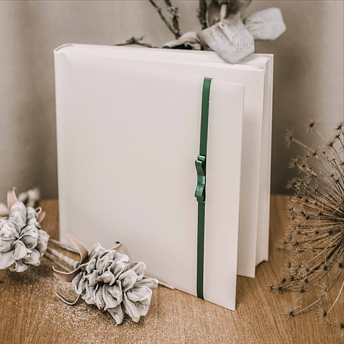 large photo album with satin ribbon, 35x35 cm, up to 72
