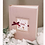 Thumbnail: Pink baby girl photo album with personalized card, 25x20 cm, 200 photos