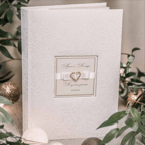 pocket photo album with diamond decor, 31x22 cm, 300 photos