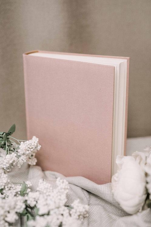 Pink baby girl photo album, 25x20 cm, 200 photos