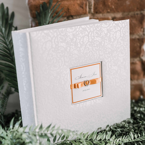medium photo album with diamond decor, 31x31 cm, up to 300 photos