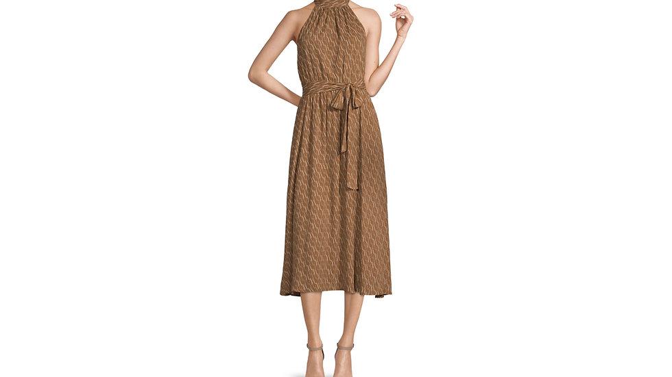 Worthington sleeveless geometric midi dress