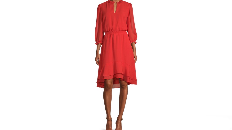 Danny Nicole sleeve highlow fit flare dress