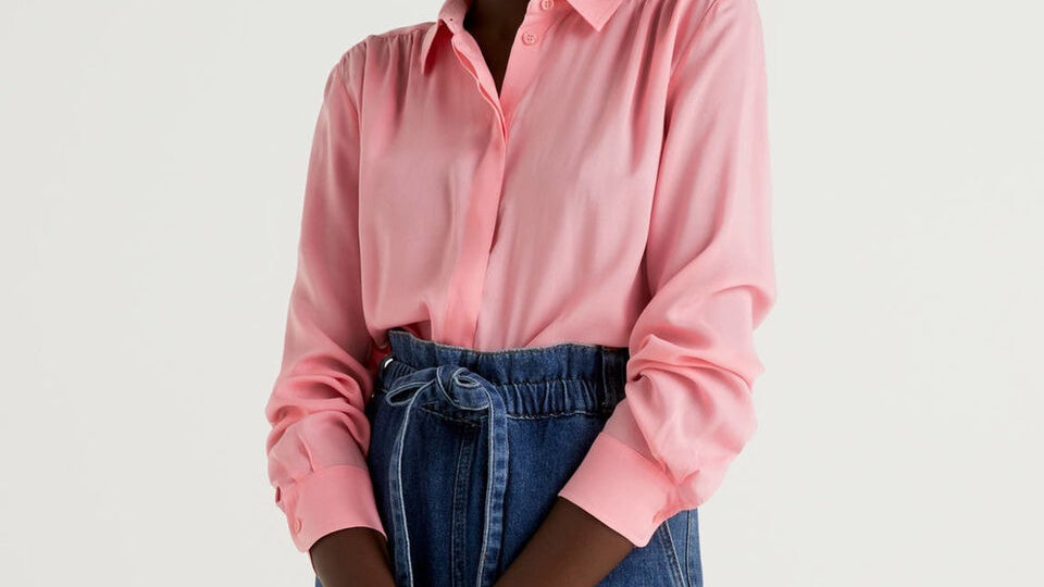 Benetton Yarn Dyed Shirt in pure cotton