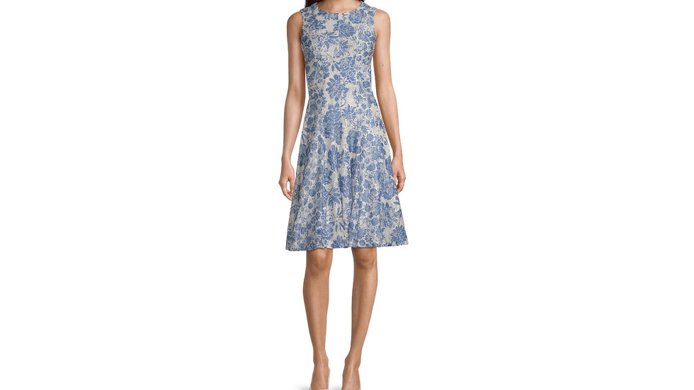Danny Nicole sleeveless floral lace dress