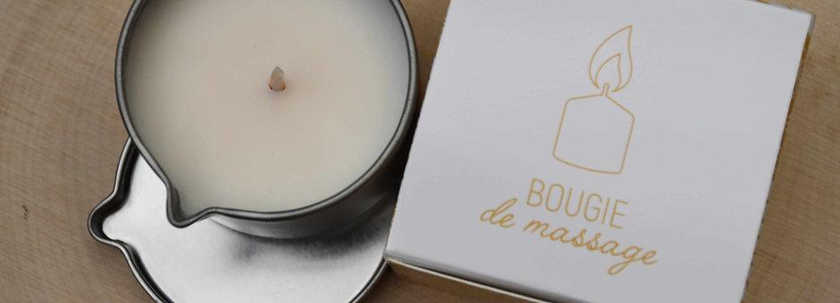 Bougie de massage - Parfum Coco ou Fleur des Îles