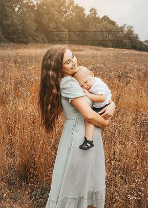 Mummy and baby boy photoshoot