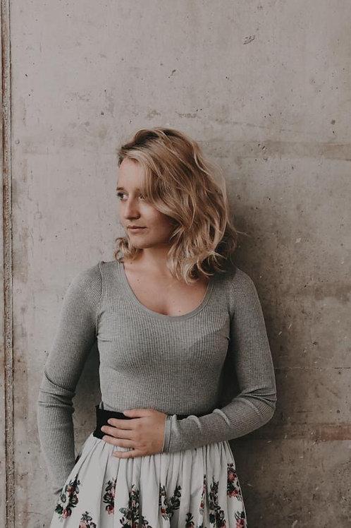 Silk Shirt 5189 light grey