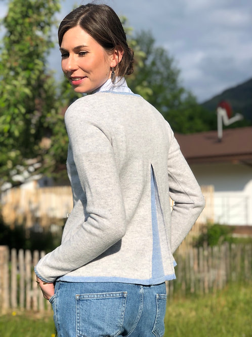 Damenpullover mit Rückenfalte Edenplain