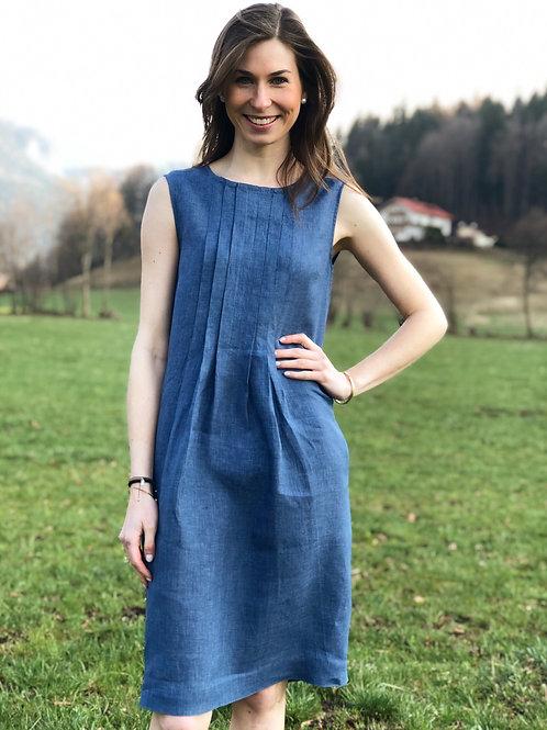 Leinenkleid Wallmann Blau