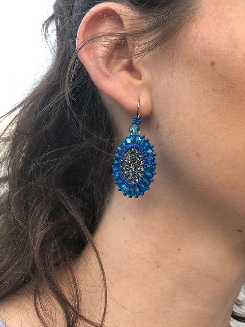 Ohrring Lorena blau