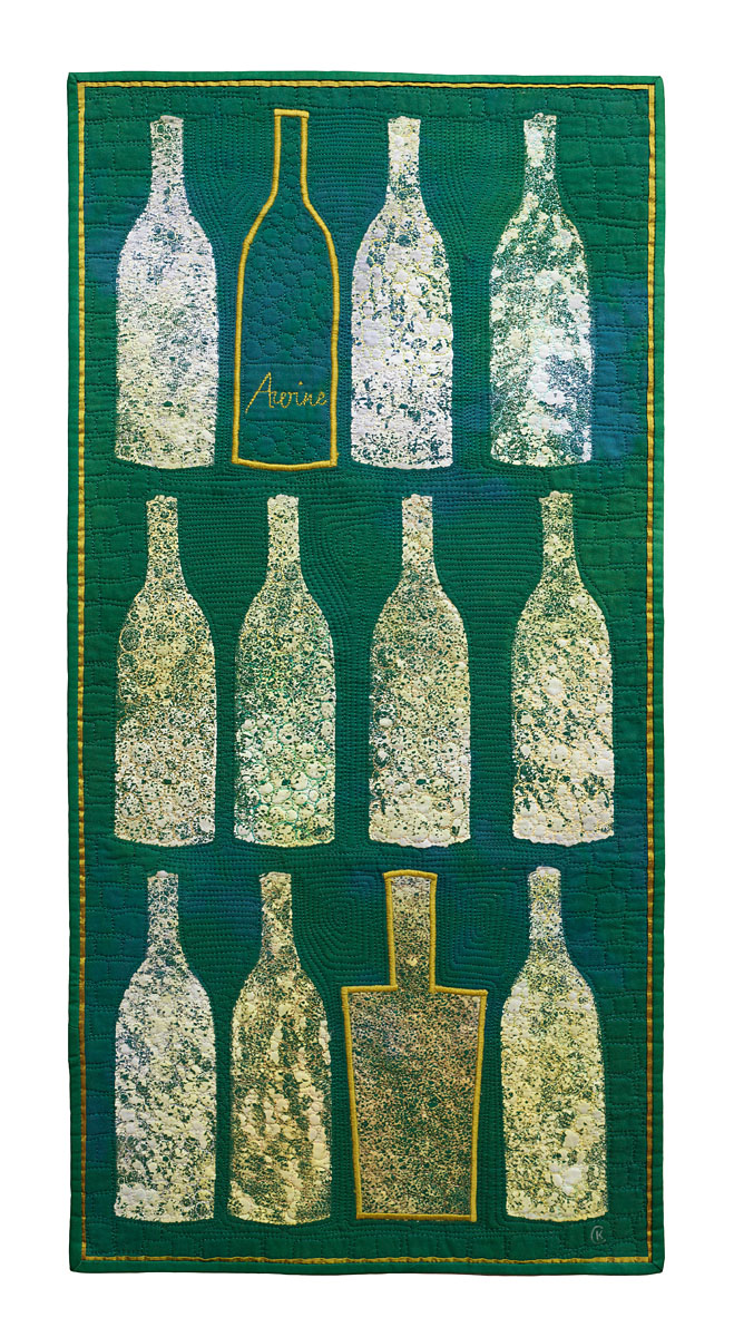 Bottles in green