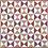 Thumbnail: Natuurlijk geverfde zandloper quilt - 80 x 103 cm