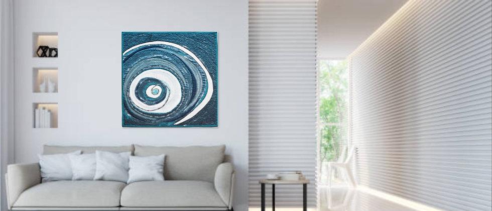 Turmoil - 100 x 100 cm