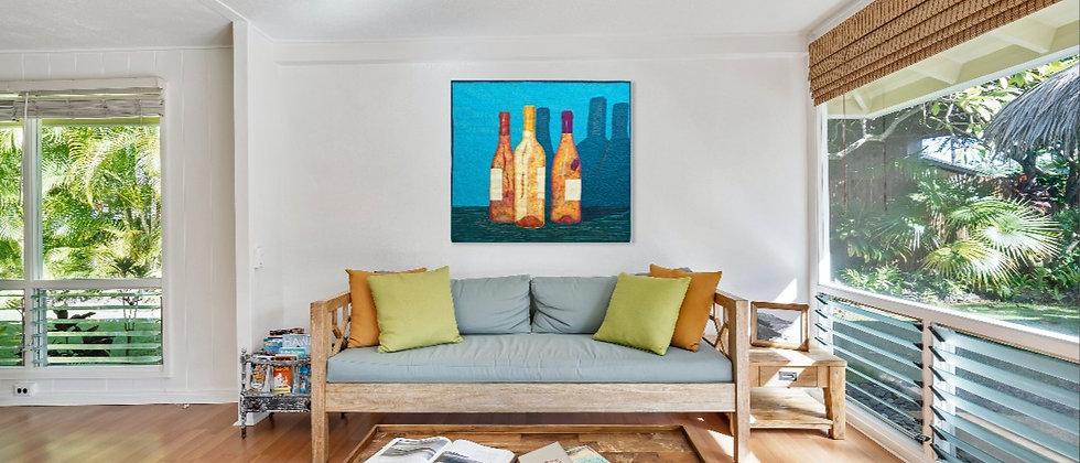 Summer Bottles - 100 x 110 cm