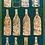 Thumbnail: Flessen op groene achtergrond - 44 x 87 cm
