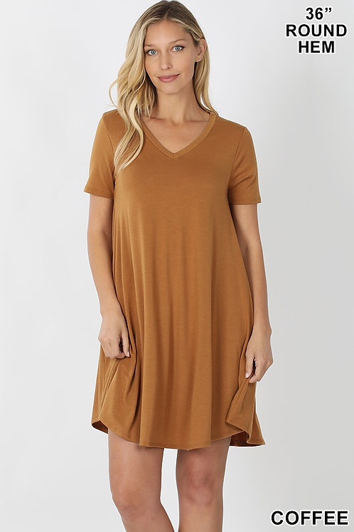 V-neck dress - 2 colors