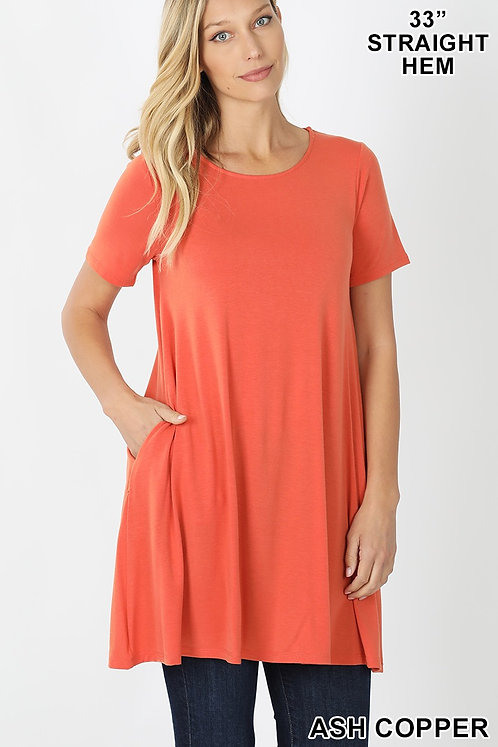 Tunic/Dress with pockets - 7 colors
