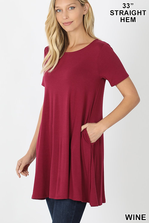 Tunic/Dress with pockets 5 colors