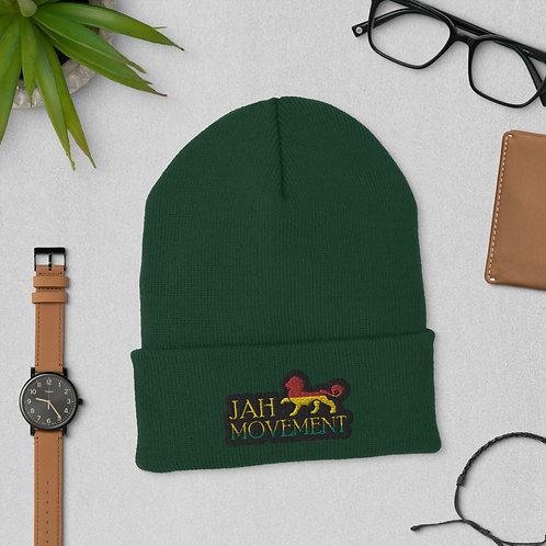 Cuffed Jah Movement Beanie Hat (Unisex)