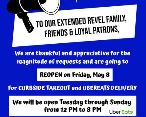 Revel reopens this Friday!