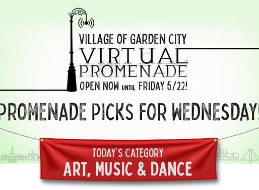 Promenade Picks For Wednesday: Art, Music & Dance