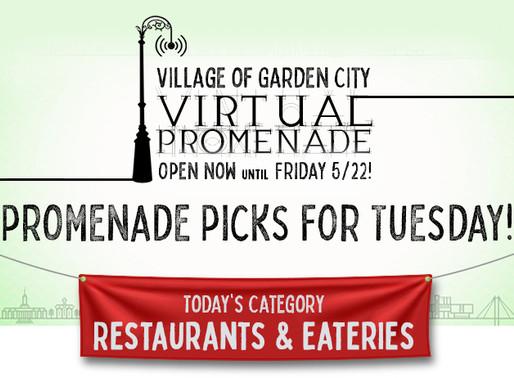 Promenade Picks For Tuesday: Restaurants