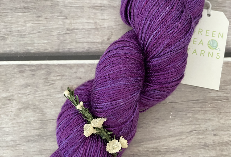 The Witch Is Dead - 4 ply in Mulberry silk