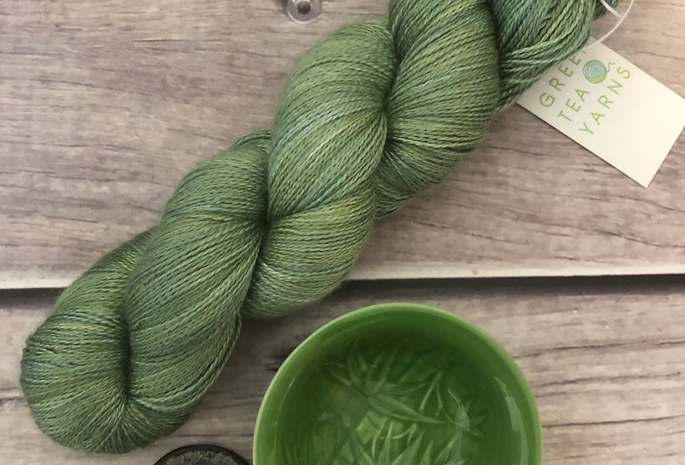 Matcha Green - 2 ply silk and alpaca